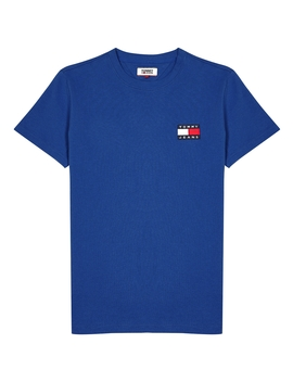 Blue Logo Cotton T Shirt by Tommy Jeans