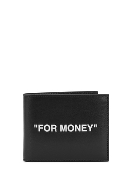 Black Printed Leather Wallet by Off White