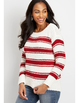 Stripe Crew Neck Pullover by Maurices