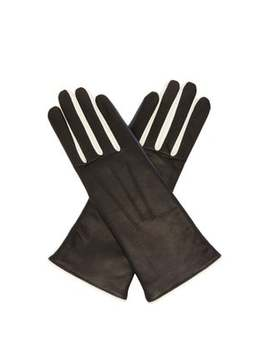 Tri Tone Leather Gloves by Isabel Marant