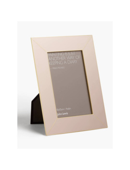 John Lewis & Partners Lily Photo Frame, Brass/Light Pink by John Lewis & Partners