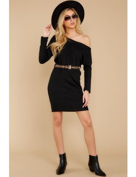 Come Closer Black Sweater Dress by She + Sky