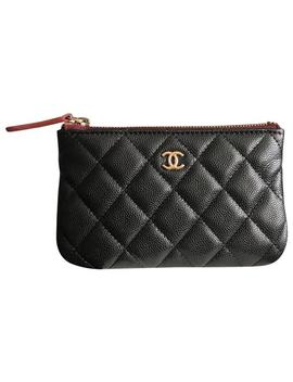 Black 19b Collection Mini O Case Pouch Wallet by Chanel