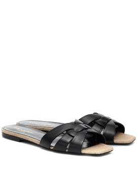 Tribute Nu Pieds Raffia Sandals by Saint Laurent