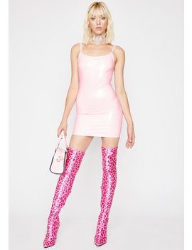 Missed Ur Chance Pvc Dress by Dolls Kill