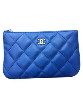 Blue Mini O Case Pouch Cosmetic Bag by Chanel