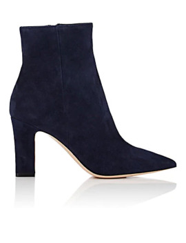 Pointed Toe Suede Ankle Boots by Gianvito Rossi