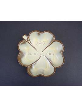 Vintage Frankoma Pottery Four Leaf Clover J&B Drug Promo Ashtray (E9208) by Etsy