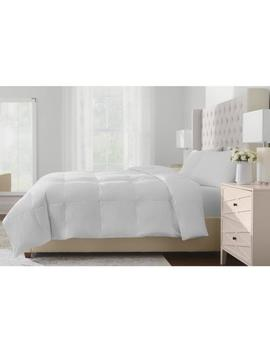 Lightweight Down White Cotton Twin Comforter by Home Decorators Collection