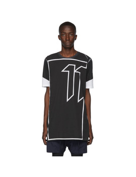 Black & White Block Print Inverse T Shirt by 11 By Boris Bidjan Saberi