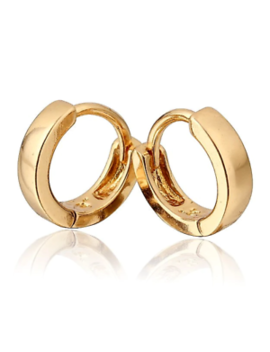 18 K Gold Plated Jewellery Small Baby Girls Hoops Earrings Baby Girl Hq New Uk by Ebay Seller