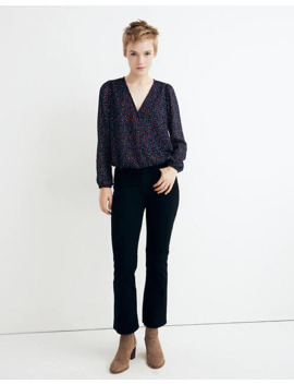 Lyric Wrap Top In Sugar Dot by Madewell