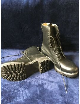 Genuine British Army Issue Size 6 Large Black Leather Combat New by Ebay Seller