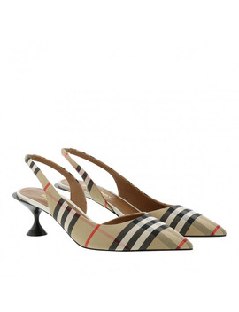 Vintage Check Slingback Pumps Archive Beige by Burberry