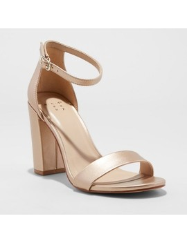 Women's Ema Satin High Block Heel Pump Sandal   A New Day™ by A New Day