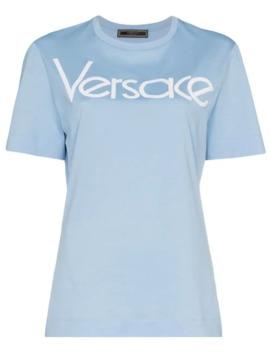 Appliqué Logo T Shirt by Versace