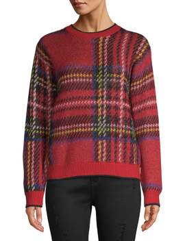 Time And Tru Brushed Plaid Pullover Women's by Time And Tru