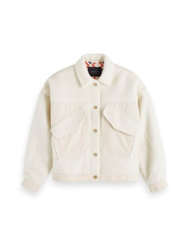 Oversize Wool Blend Trucker Jacket by Scotch & Soda