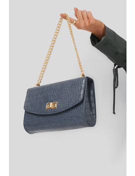 Big Chain Flap Bag Blue by Na Kd Accessories