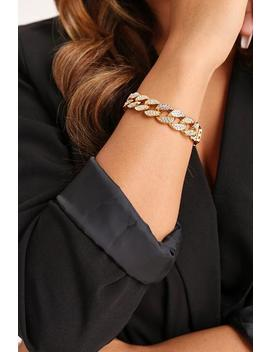 Diamante Chunky Chain Bracelet by I Saw It First