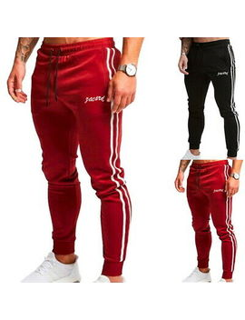 Men Sports Gym Pants Slim Fit Running Joggers Casual Long Trousers Sweatpants by Unbranded