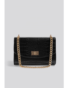 Big Chain Flap Bag Black by Na Kd Accessories
