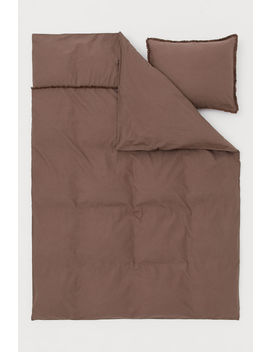 Fringe Trimmed Duvet Cover Set by H&M