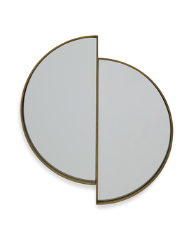 Lunar Reflecting Antique Brass Wall Mirror By Drew Barrymore Flower Home by Drew Barrymore Flower Home