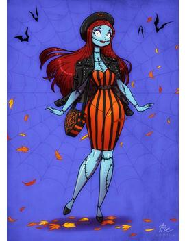 Sally Glamorous Ghoul 5x7 by Etsy