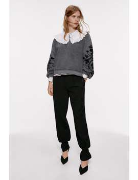 Faded Effect Floral Sweatshirt by Zara