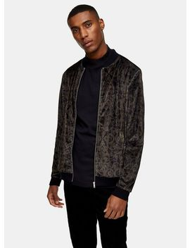 Velvet Baroque Bomber Jacket by Topman
