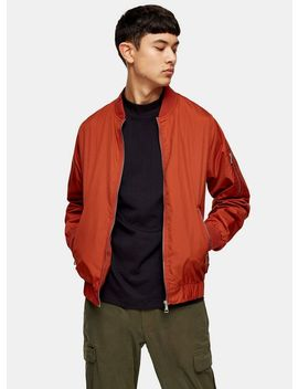 Rust Bomber Jacket by Topman