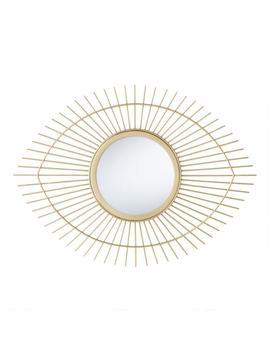 Gold Metal Sunburst Eye Mirror by World Market