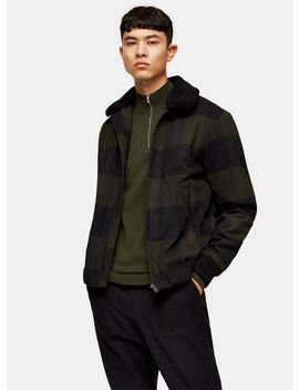 Selected Homme Black Watch Check Bomber Jacket by Topman