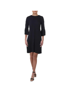 Eileen Fisher Womens Mini Dress Silk Bell Sleeves   Navy   S by Eileen Fisher