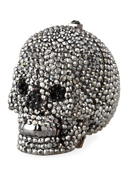 Skull Beaded Crystal Pillbox by Judith Leiber Couture