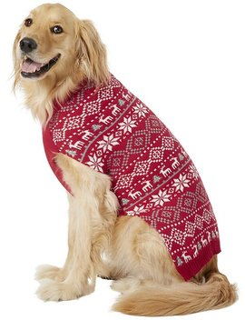 Frisco Reindeer Fair Isle Dog & Cat Sweater, Red by Frisco