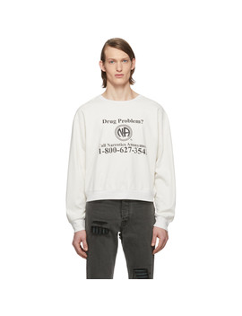 White 'na' Long Sleeve T Shirt by Enfants Riches DÉprimÉs