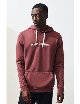 Banks Journal Burgundy Label Pullover Hoodie by Pacsun