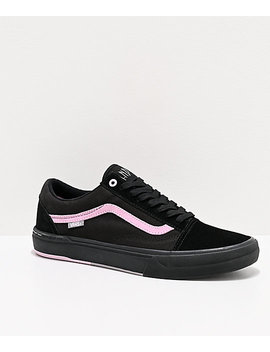 Vans Old Skool Pro Danois Black & Pink Skate Shoes by Vans