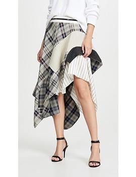 Draped Plaid Jacket Skirt by Monse
