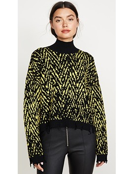 Crop Knit Turtleneck by Versace