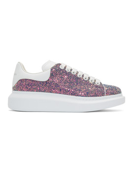 Multicolor Shell Glitter Oversized Sneakers by Alexander Mcqueen