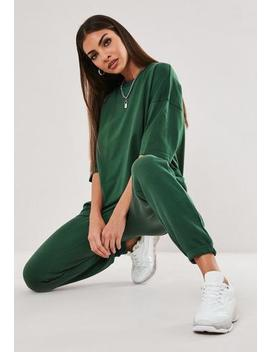 Green T Shirt And Joggers Co Ord Set by Missguided