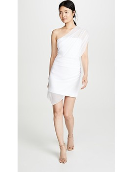Strapless Mini Dress With Draped Chiffon Overlay by Cushnie