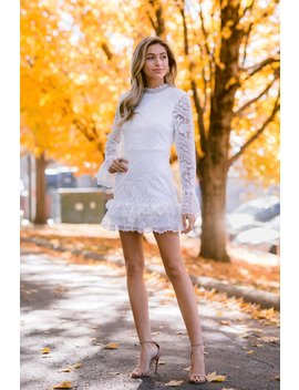 Head Over Heels White Lace Dress by Just Me