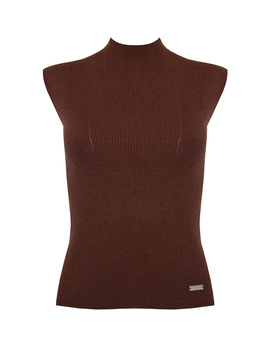 Brown Wytte Knitted Top Brown Wytte Knitted Top by Jovonna London