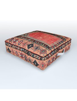 Sivas Antique Cappadocian Turkish Niche Kilim Print Outdoor Floor Cushion by Society6
