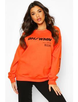 Woman Graphic Oversized Sweatshirt by Boohoo