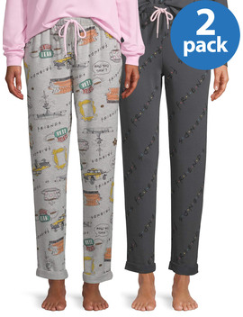 Friends Women's And Women's Plus 2 Pack Sleep Jogger by Friends